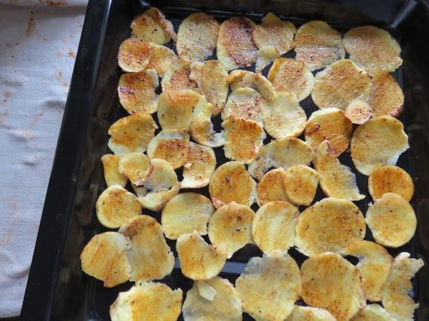Chips mit Würzmischung