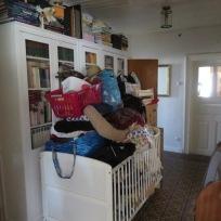 Das komplette Haus war ein Zwischenlager!
