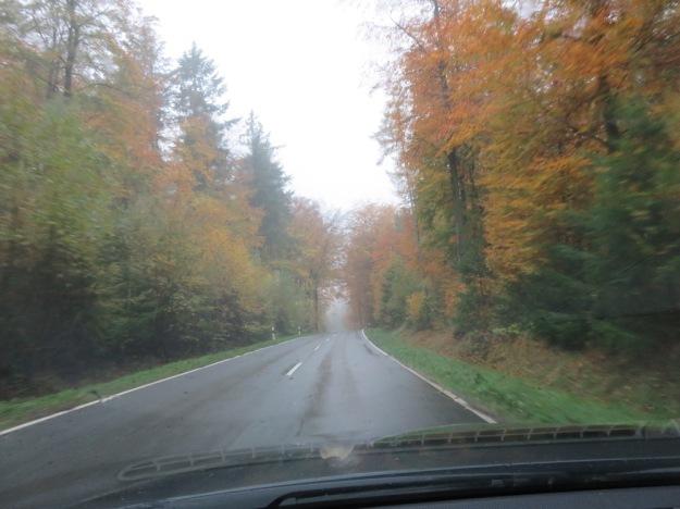 Ein Kombi voller Tauschwaren auf dem Weg zum Tauschtreffen durch den Sachsenwald