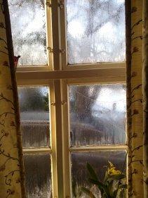 Das war einmal: Eisblumen am alten Fenster