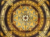 Antikes Ornament aus Zementmosaikplatten als Duschwanne