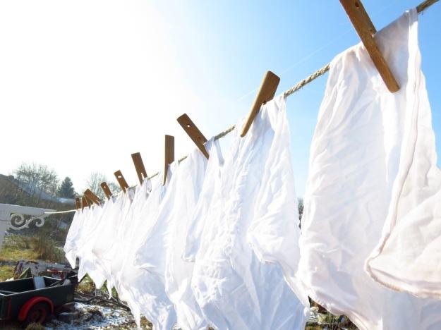 Antike Wäscheklammern aus Holz