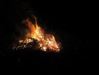 Strauchwerk brennen und dabei feinstes Wildbret grillen.
