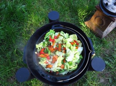 Gemüsepfanne aus dem Dutch Oven