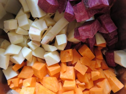 Bunte Süßkartoffeln