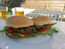 Hamburger mit Reh-Hack
