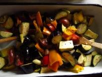 Gemüse nach 30 Minuten im Ofen