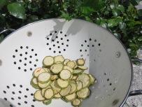 Getrocknete Zucchini