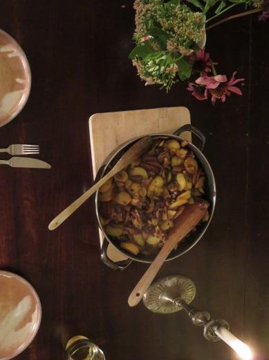 Bratkartoffeln, Speck, Waldpilze