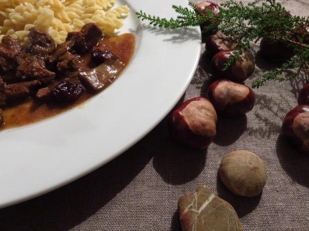 Wildschwein, Maronen, Cranberries