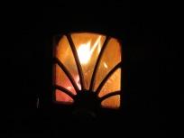 Flackerndes Licht im Ofen
