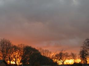 Schwindenes Licht beim Sonnenuntergang