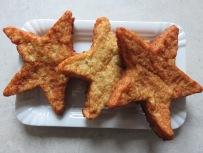 Fischfrikadellen in Sternchenform