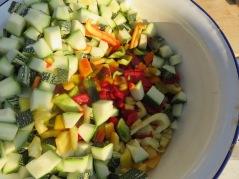 Zutaten frisch aus dem Garten
