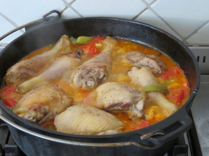 Paprikahuhn aus dem Dutch Oven
