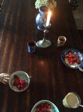 Muesli mit Erdbeeren - oder andersrum