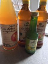Apfelsaft, Apfelessig und Zitronensaft